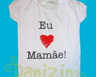 T-Shirt Beb M. Curta EU AMO A MAME