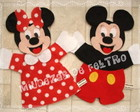 Kit de Fantoches Minnie e Mickey