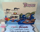 Convite Pop Up - Tema Piratas