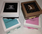 Caixas Chanel, VS, LV, Tiffany