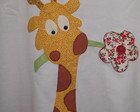 Camisetas em Patch Aplique Girafa