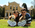 Placas Save the Date p/ 2 PETs Bca