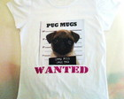 CAMISA PUG WANTED BABY LOOK