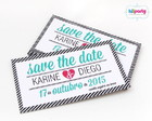 Save The Date Magnético 9x5cm Tema: Tax