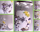 POTE DECORADO BISCUIT CAFE VAQUINHA