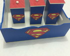 Cesta E Trio De Potes - Kit Super Man