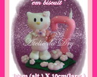 VELA HELLO KITTY EM BISCUIT