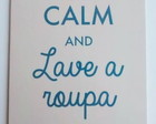 "Plaquinha ""Keep calm and"" + suporte"