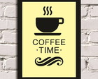 Poster com Moldura Coffee Time