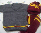 Conjunto fantasia Harry Potter tam. RN