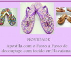 Passo a passo decoupage em chinelo