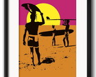 Quadro Surfe Pop Art com Paspatur