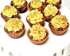 Mini cupcakes de brownie