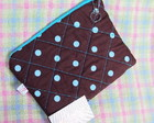 Necessaire Basic Polka Dots Brow Blue