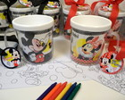 Kit pintando a caneca Mickey e Minnie