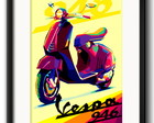 Quadro Vespa Pop Art com Paspatur