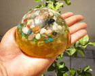 Orgonite de Cristais Dome Amarelo