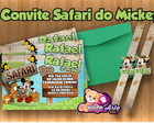 Convite Safari do Mickey Grande 2