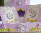 Kit Beb� com Fuxico Lilas 4 Pe�as