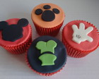 Cupcakes decorados tema Disney