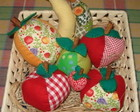 Frutas em patchwork