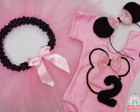 Kit Minnie Rosa e Preto