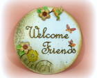 Quadro Welcome Friends Redondo