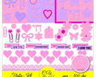 Kit Scrapbook Digital Fluffy