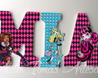 Letras Monster High MDF