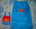Kit Mochilinha + Capa TNT Superman