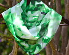 Infinity Scarf Green Leaves