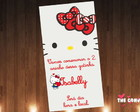 Convite Hello Kitty scrap