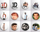 Botons One Direction - Kit com 18