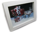 Quadro Decorativo 3d Papai Noel 18x24cm