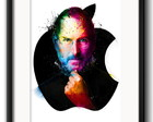 Quadro Steve Jobs Colors com Paspatur