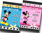 Revista colorir mickey minnie 14x10