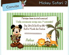 Convite Mickey Safari 2 - arte digital