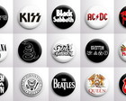 Botons Banda de Rock/Metal - Kit com 30