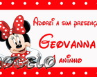 Tags de agradecimento minnie