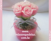 VE010091 - BUQU DE ROSAS NO VASO - ROSA
