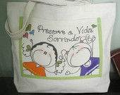 ECO BAG DE LONA CRU E PINTURA TEEN.