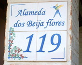 numero de casa em azulejo