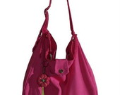 Bolsa em lona rosa