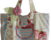 Bolsa em cotton patchwork