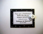 TAG SCRAPBOOK - PRETO E BRANCO