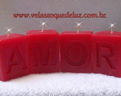 VELAS &quot;AMOR&quot; - VERMELHO