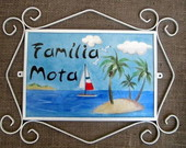 Placa Residencial Famlia Mota