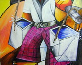 Pintura Em Tela 80x1 00 Cod 268 Katia Almeida Pinturas Em Telas R