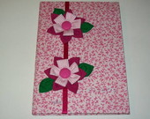 Caderno com Flores Rosa