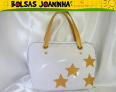 ESTRELAS DOURADAS BOLSAMO BRANCA
